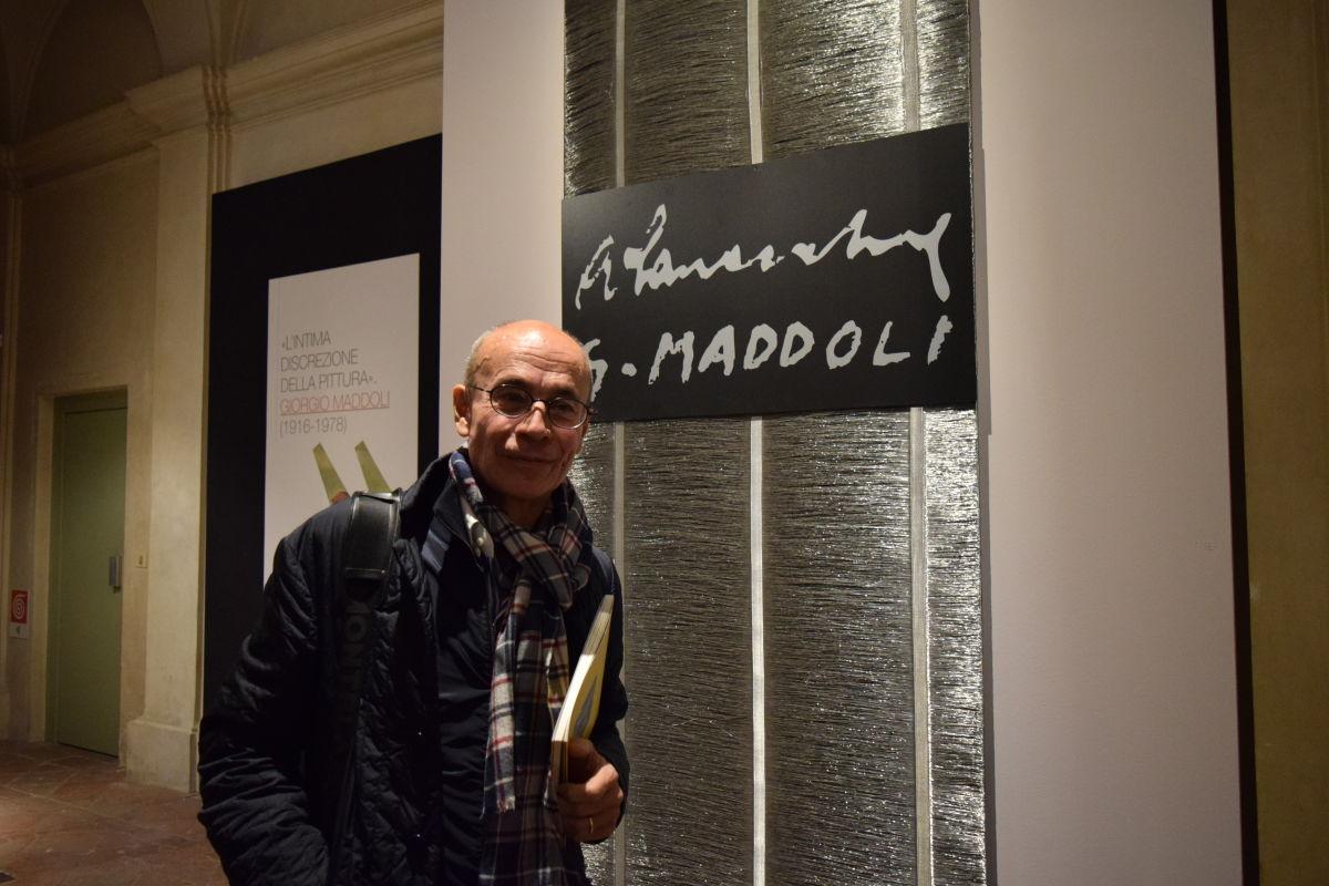 Prof Mancini all'ingresso