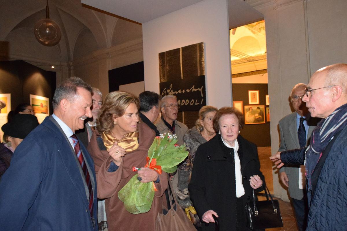 ingresso Depretis, Cristina maddoli, sig. ra Irma e prof Mancini