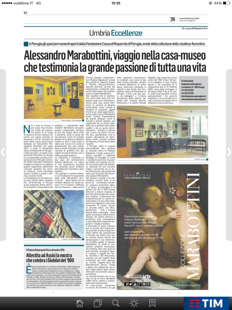 Alessandro Marabottini, viaggio nella casa-museo che testimonia la gfrande passione di tutta una vita - Il Mess. pag. 52 Eccellenze 29-01-2016