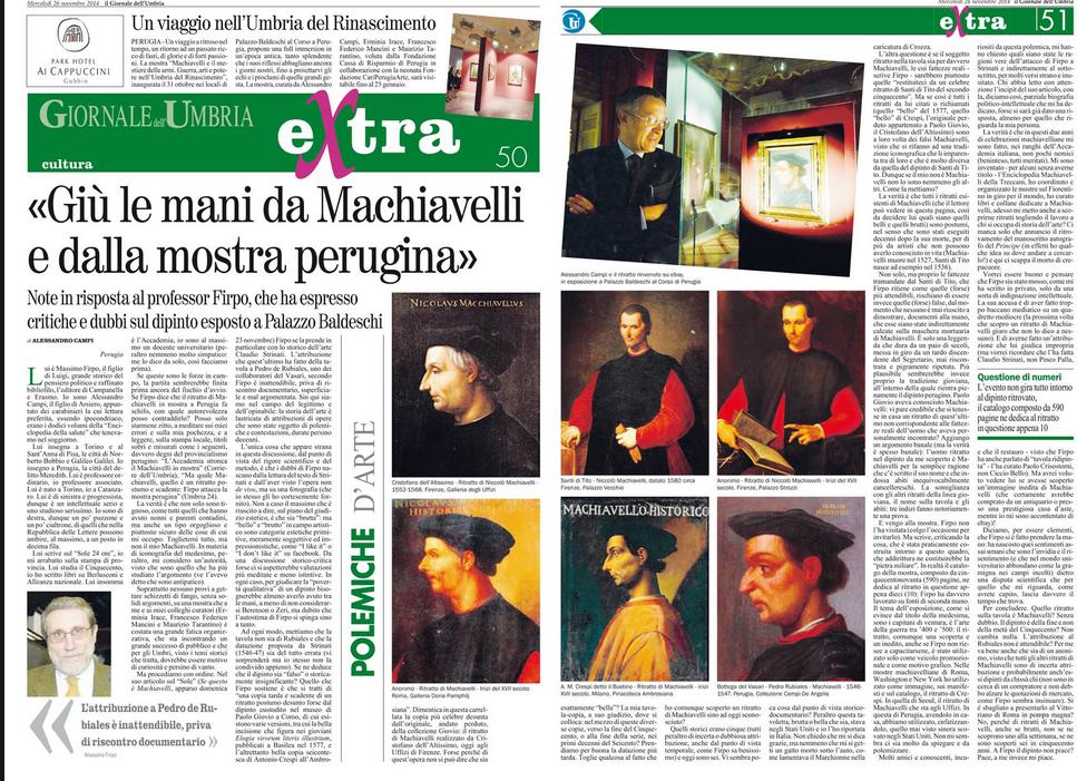 Machiavelli ritrovato, scoppia il caso