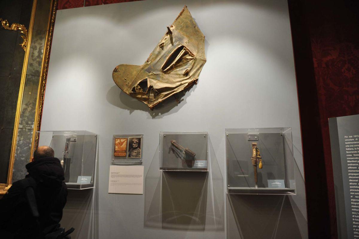 Piano di coda di un aereo austriaco abbattutto da Francesco Baracca, asso dell'aviazione italiana