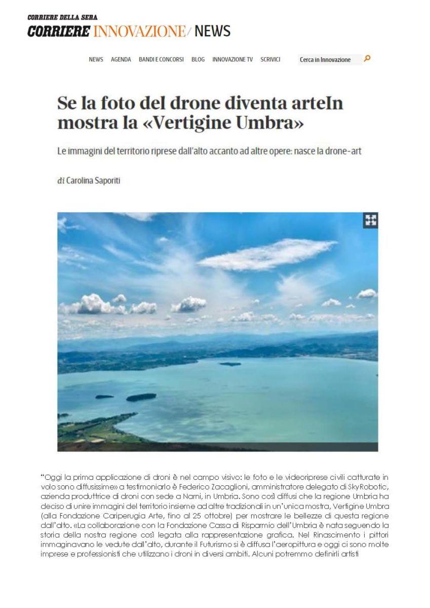 Sul Corriere della Sera la drone-art che svela l'Umbria segreta