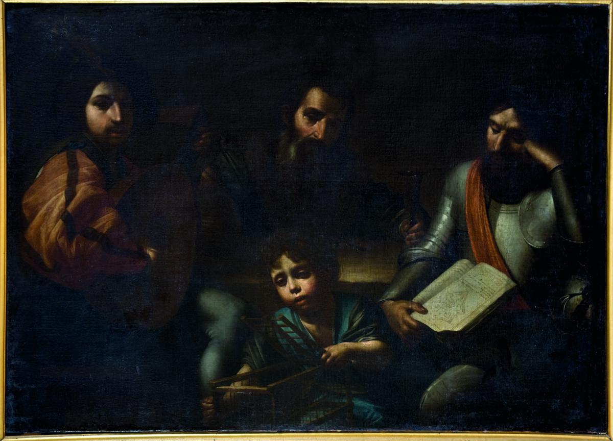 Valentin de Boulogne (da), I cinque sensi