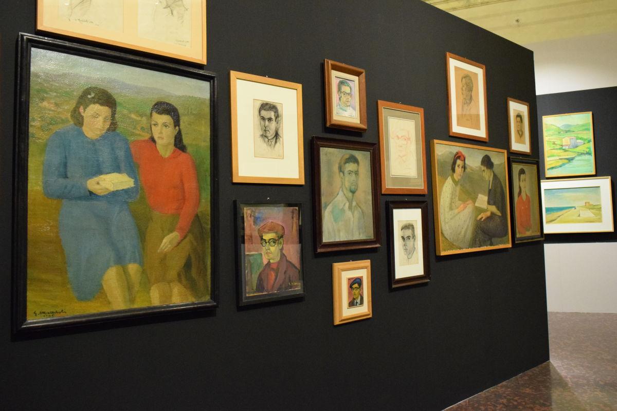 Dipinti di Giorgio Maddoli e sculture di Antonio Ranocchia al piano nobile di Palazzo Baldeschi