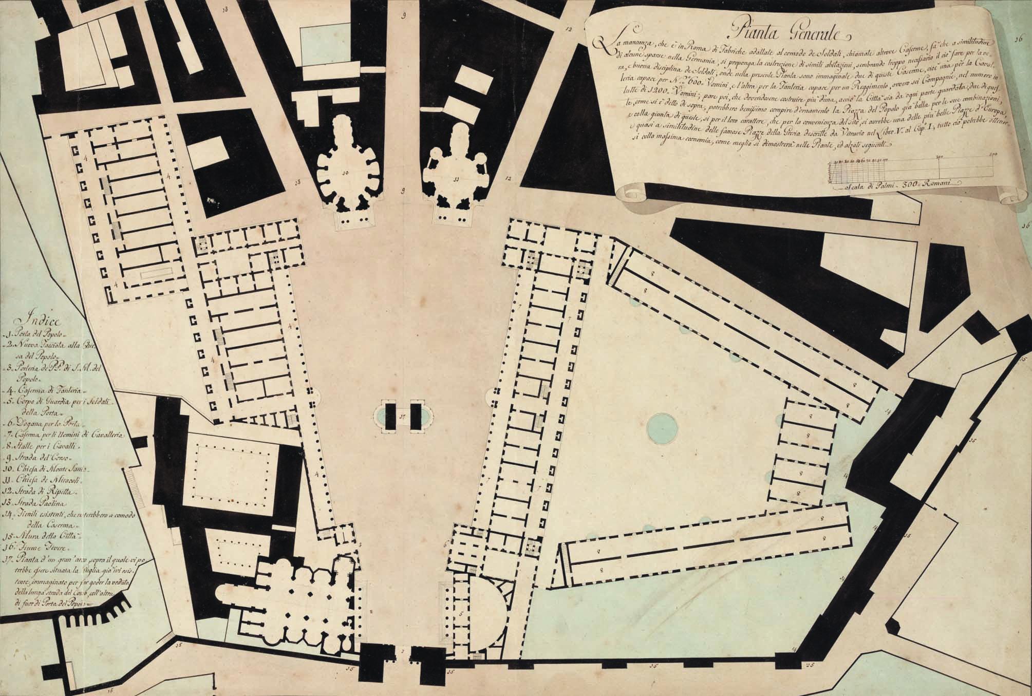2701 GIUSEPPE VALADIER Sistemazione Pantheon
