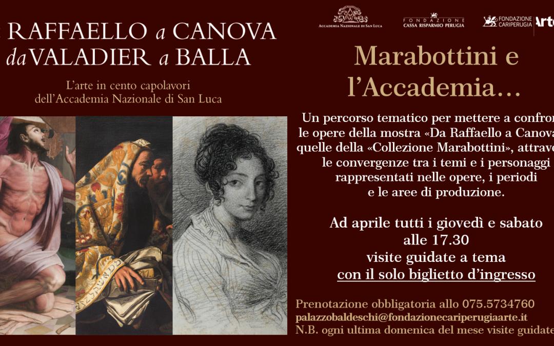 "Ad aprile visite guidate a tema su ""Marabottini e l'Accademia…""."