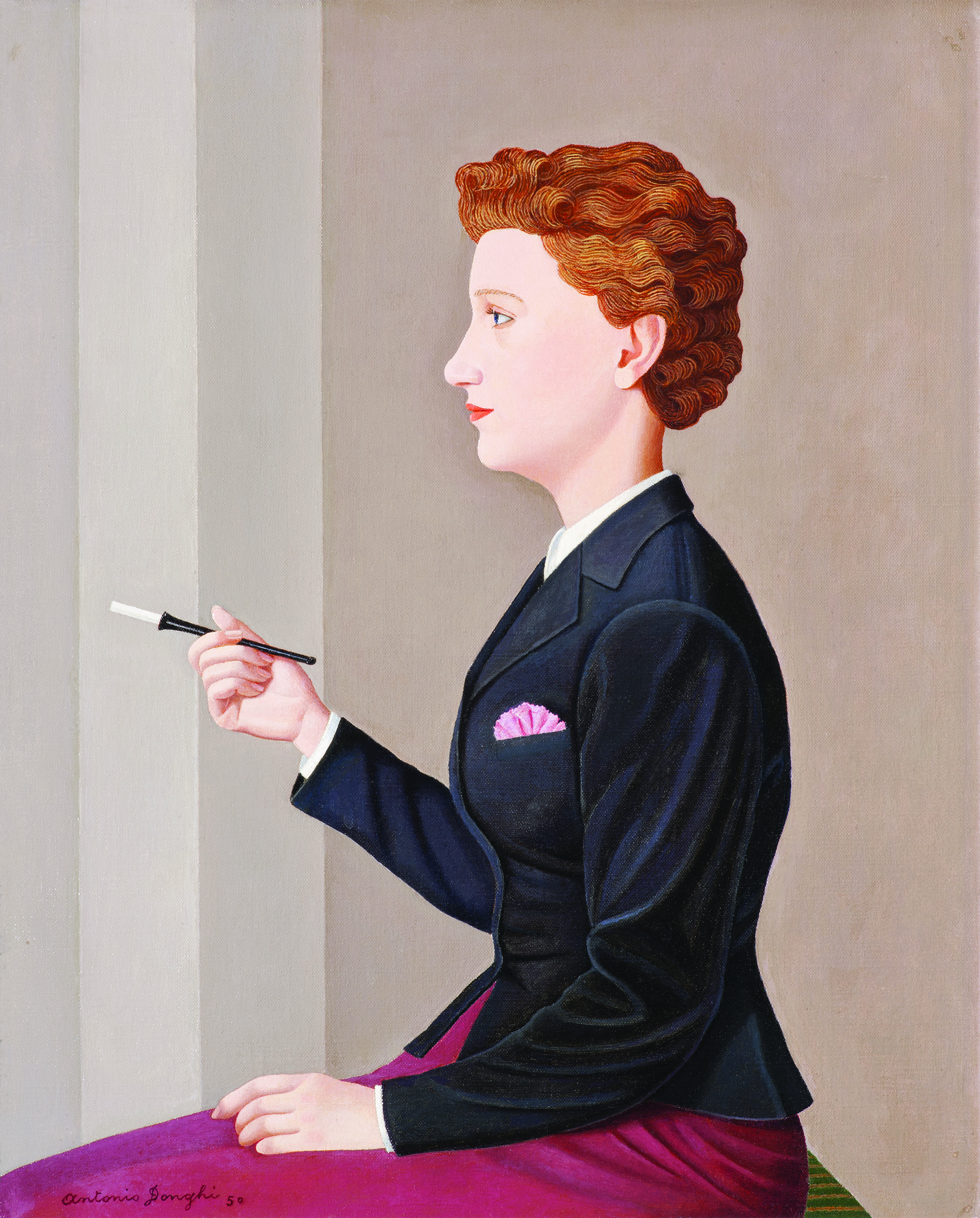 Antonio Donghi_La donna che fuma