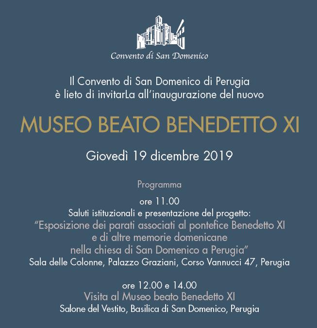 Inaugurazione del Museo beato Benedetto XI nella chiesa di San Domenico a Perugia