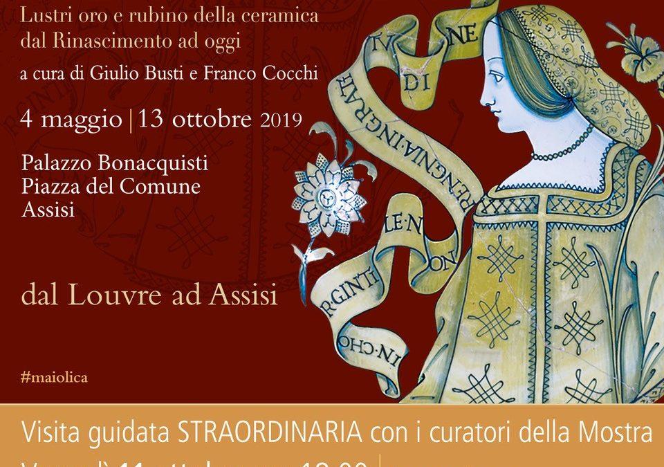 Venerdì 11 ottobre visita straordinaria con i curatori